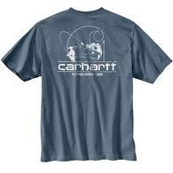 Carhartt Men's Big & Tall Workwear Logo Fish Graphic Pocket Short-Sleeve Shirt