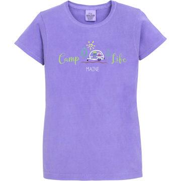 Soft As A Grape Womens Camp Life Maine Short-Sleeve T-Shirt