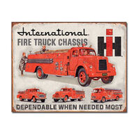 Desperate Enterprises Fire Trucks Tin Sign