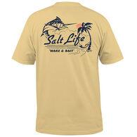 Salt Life Men's Wake and Bait Pocket Short-Sleeve T-Shirt