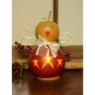 Meadowbrooke Gourds Ariana Small Lit Angel Gourd