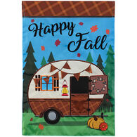 Carson Home Accents Fall Camper Double Appliqué Garden Flag