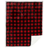 Carstens Inc. Lumberjack Plaid Plush Sherpa Fleece Throw Blanket