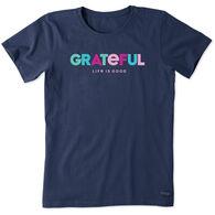 Life is Good Women's Grateful Crusher Lite Short-Sleeve T-Shirt