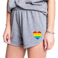 P.J. Salvage Women's Love Rules Rainbow Heart Sleep Short