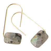 Scout Curated Wears Women's Floating Stone Earring - Labradorite/Gold