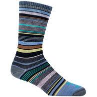 Farm To Feet Women's Ithaca Multi-Stripe Ultralight Crew Sock