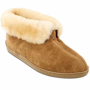 e331e4dca13d1d Minnetonka Men's Sheepskin Ankle Boot Slipper | Kittery Trading Post
