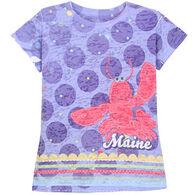 Lakeshirts Girls' Blue 84 Maine Lobster Short-Sleeve T-Shirt
