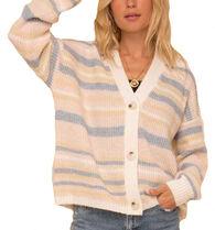 Hem & Thread Women's Cozy Color Striped Pattern Cardigan