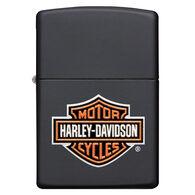 Zippo Harley-Davidson Texture Print Classic Logo Black Matte Windproof Lighter