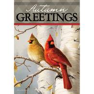 Carson Home Accents Cardinals & Birch Garden Flag
