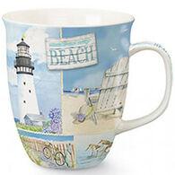 Cape Shore Coastal Collage Harbor Mug