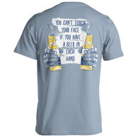 Puppie Love Men's & Women's Two Beers Can't Touch Your Face Pup Short-Sleeve T-Shirt
