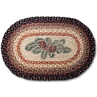 Capitol Earth Oval Pinecone/Red Berry Braided Rug