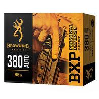 Browning BXP Personal Defense 380 Auto 95 Grain X-Point JHP Handgun Ammo (20)