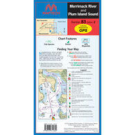 Maptech Folding Waterproof Chart - Merrimack River and Plum Island Sound