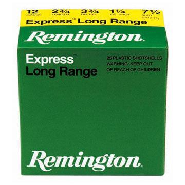 "Remington Express Extra Long Range 12 GA 2-3/4"" 1-1/4 oz. #7.5 Shotshell Ammo (25)"