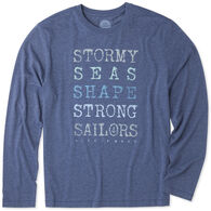 Life is Good Men's Strong Sailors Long-Sleeve Cool T-Shirt