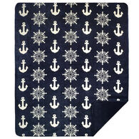 Monterey Mills Denali Anchors And Wheels Throw Blanket