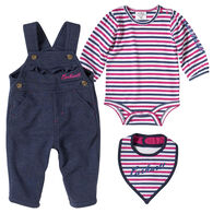 Carhartt Infant Girl's French Terry Overall 3-Piece Set