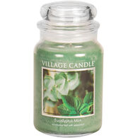 Village Candle Large Glass Jar Candle - Eucalyptus Mint