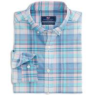 Vineyard Vines Men's Classic Fit Tropical Fronds Murray Button-Down Long-Sleeve Shirt