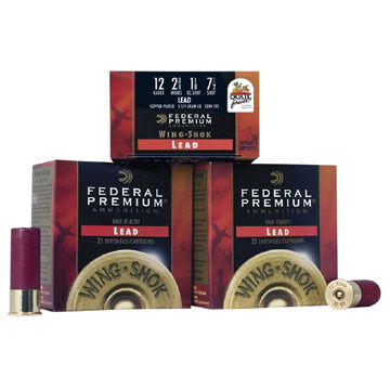 "Federal Premium Wing-Shok Magnum 20 GA 3"" 1-1/4 oz. #6 Shotshell Ammo (25)"