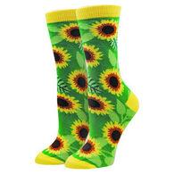 Sock Harbor / Ocean Beach Women's Sunflower Crew Sock