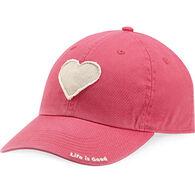 Life is Good Women's Heart Tattered Chill Cap