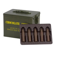 Chocolate Ammo Military Style Tin with Chocolate Bullets