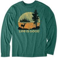 Life is Good Men's Retro Deer Cool Tee Long-Sleeve T-Shirt