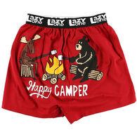 Lazy One Men's Happy Camper Comical Boxer Short
