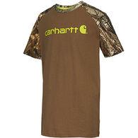 Carhartt Boys' Camo Raglan Short-Sleeve T-Shirt
