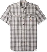 Carhartt Men's Force Ridgefield Woven Short-Sleeve Shirt