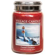 Village Candle Large Glass Jar Candle - Coastal Christmas