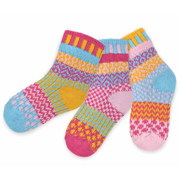 Solmate Socks Youth Cuddlebug Sock, 3/pc