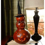 Meadowbrooke Gourds Reba Three-Tier Witch Lit Gourd