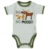 Lazy One Infant Boy's Duck Duck Moose Creeper Onesie