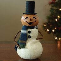 Meadowbrooke Gourds Small Carlisle Snowman Gourd