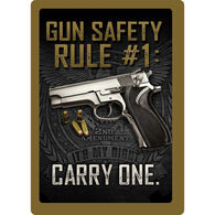 Rivers Edge Gun Safety Embossed Tin Sign