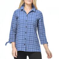 Habitat Women's Plaid Hi Low 3/4-Sleeve Shirt