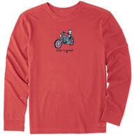 Life is Good Men's Motorcycle Jake Vintage Crusher Long-Sleeve T-Shirt