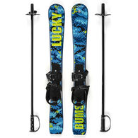 Lucky Bums Children's Beginner Backyard Snow Ski w/ Poles