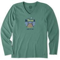 Life is Good Women's Lake My Day Crusher Vee Long-Sleeve T-Shirt