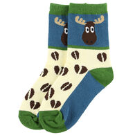 Lazy One Boy's Moose Tracks Sock