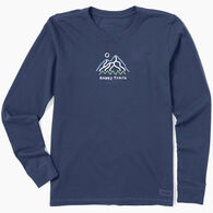 Life is Good Women's Happy Trails Mountain Vintage Crusher Long-Sleeve T-Shirt