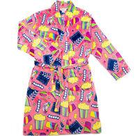 Candy Pink Girl's Movie Fleece Robe