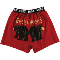 Lazy One Men's Bear Cheeks Comical Boxer Short