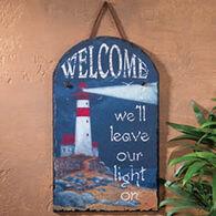 Ohio Wholesale Welcome Lighthouse Slate Sign